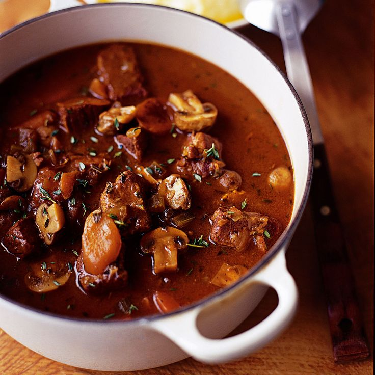 A rich, warming beef casserole recipe. This beef casserole recipe is good to prepare ahead and freeze ahead