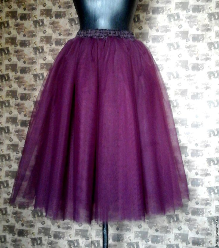 Купить Юбка - пачка темно-фиолетовая - юбка пачка, юбка пачка из фатина