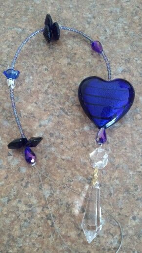 Glass heart Suncatchers
