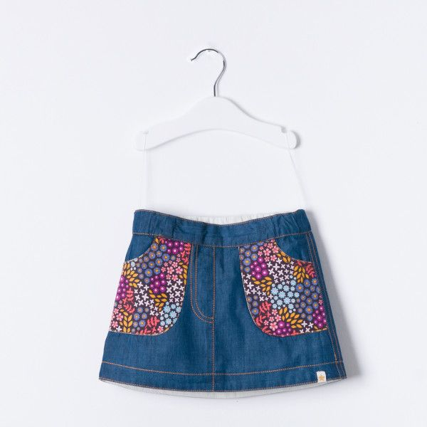 Mid-Summer Dreams Organic Denim Skirt | Twinkle Baby and Child