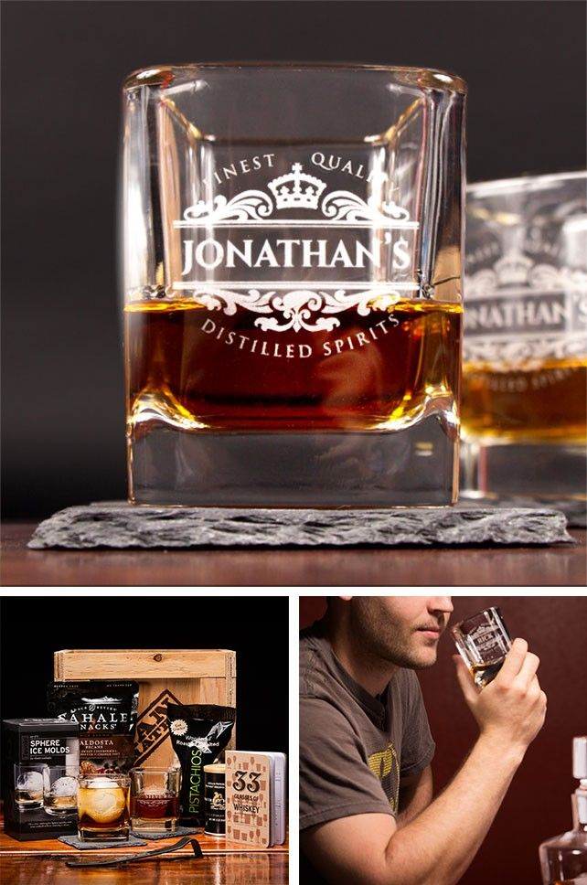 Personalized Whiskey crate - especially for Father's Day==