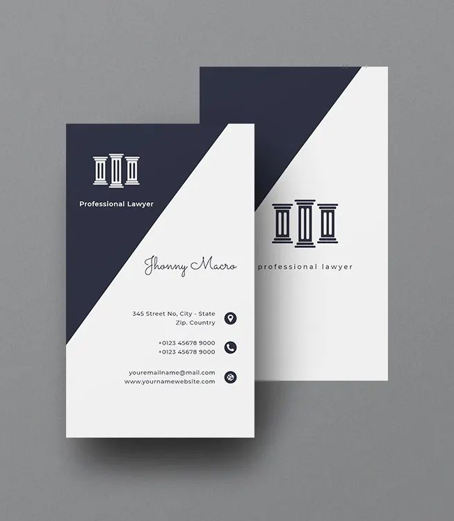 Lawyer Vertical Business Card Template Ai Eps Psd Lawyer Business Card Vertical Business Card Template Vertical Business Cards