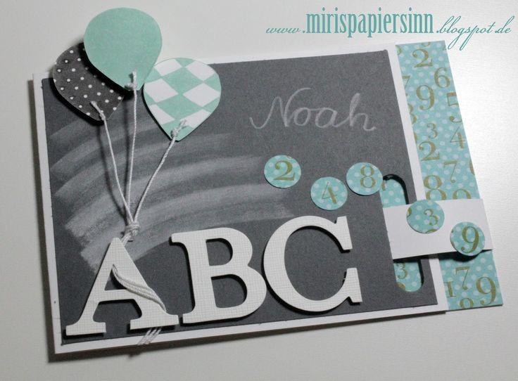 Karte Einschulung Card School Card Crafting Karte Basteln ABC