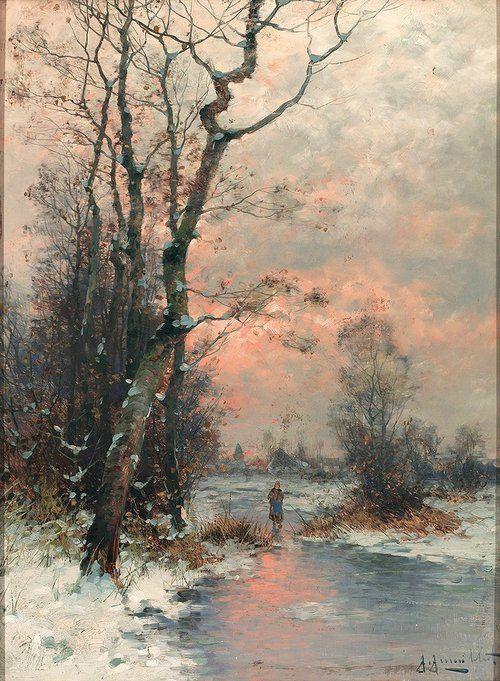 Winter Artist; Gernot Rasenberger. German 1940.