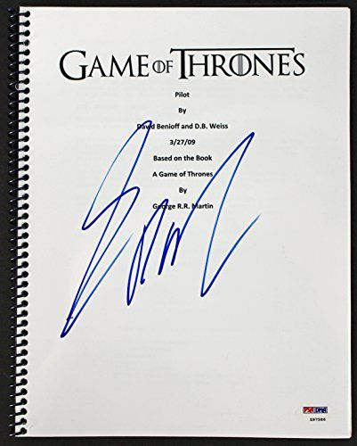 George R.R. Martin Signed Game Of Thrones Pilot Episode Script PSA/DNA #Z97586 @ niftywarehouse.com #NiftyWarehouse #GameOfThrones #Fantasy #TVShows #HBO #Show