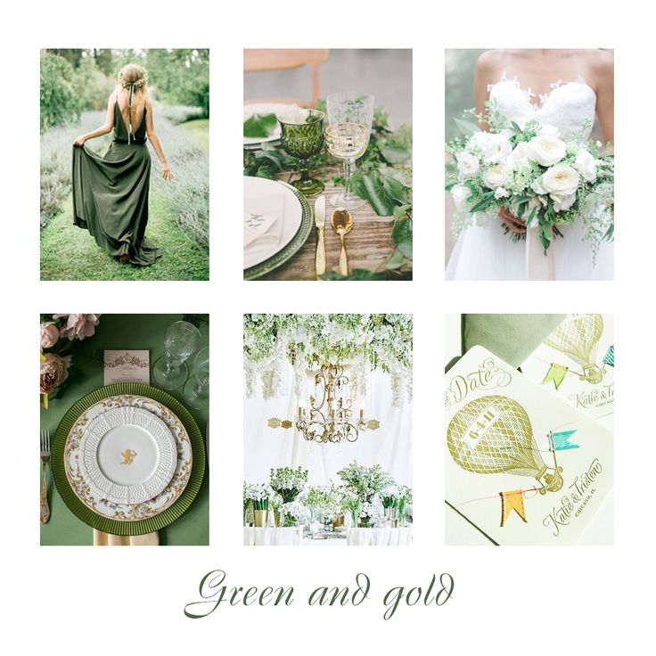 wedding green and gold