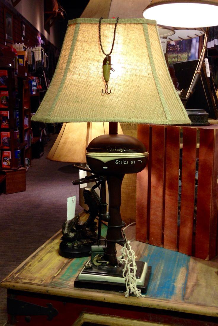 Boat Motor Fishing Themed Lamp | Bass Pro | Pinterest