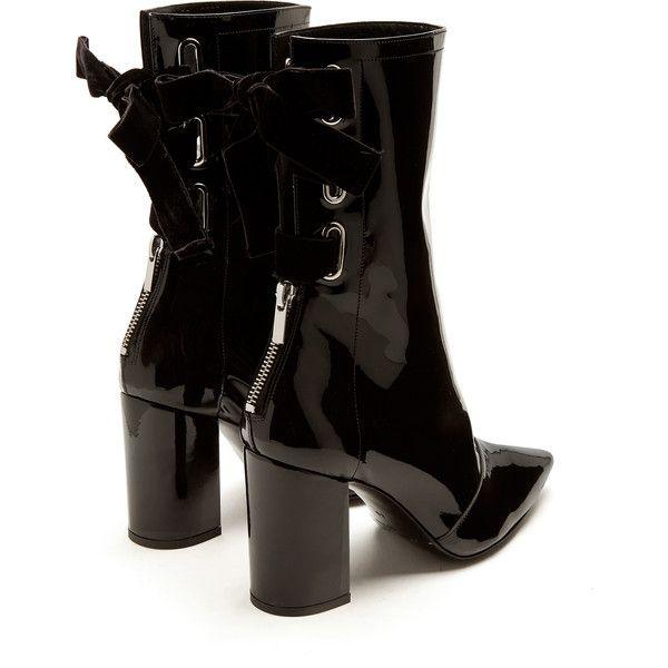18ccf479ffd Clergerie X Self-Portrait Kibbon patent-leather ankle boots ($337 ...