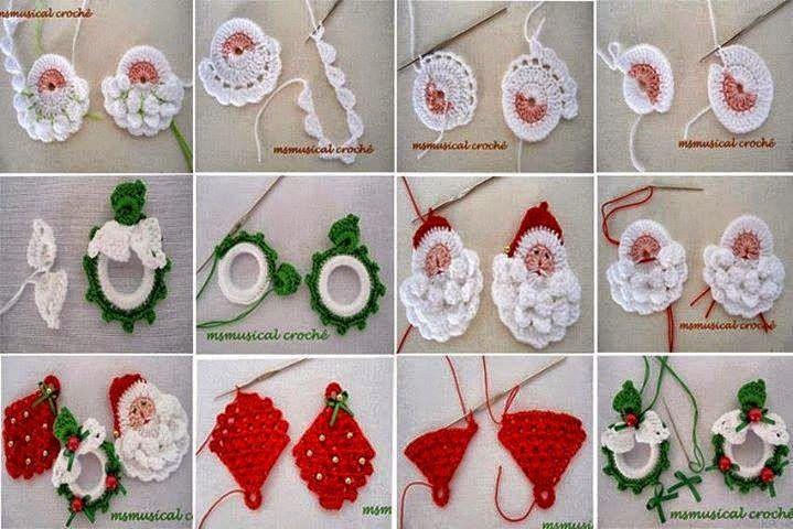 Ideas de adornos navide os para tejer al crochet for Manualidades souvenirs navidenos