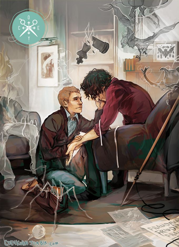 I thought this was really beautiful.. and sad. Sherlock fan art. He has been using again. Link within.