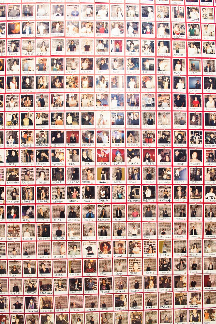 """From 2007-2011 I took a picture of everyone who visited the studio. Then Polaroid film got super expensive and I ran out of wall space so the project ended there."""