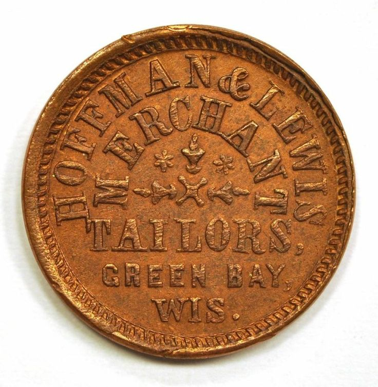 1863 CWT WI Green Bay HOFFMAN & LEWIS Rarity 6 - Civil War Token Store Card. From the Louis G. Kaufman Collection. Available now at Finger Lakes Numismatics. Visit our store or contact us at (315) 308-6943 or email us at coins.fln@gmail.com