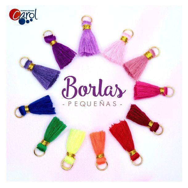 ¡NUEVAS!  Hermosas, llenas de color y brillo, conócelas haciendo clic en este pin. http://goo.gl/oXtMEA #borlas #insumos #bisuteria #accesorios #moda #tendencia