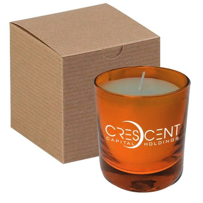 11 Oz Orange Glass Candle In Gift Box Pmod Ii Premium Modern Ii Private Label Candles Candles Wholesale Candles