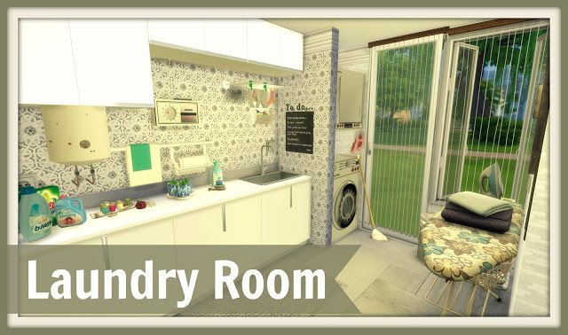 Sims 4 - Laundry Room