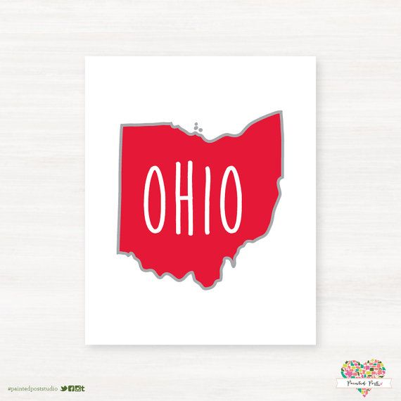 Miami University of Ohio - Redhawks- Oxford Ohio Typography State Giclée Map Art Print   by PaintedPost