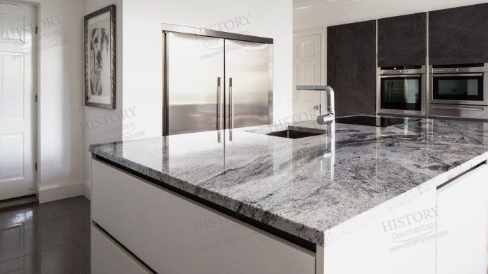 Viscont white Granite Countertops Color Model No. : HGJ153 Viscont white. Color : white. Product Origin : India Material : Granite