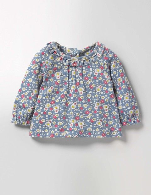Baby Boden Pretty Printed T-shirt in Wren Blue/Vintage Daisy, size 12-18m