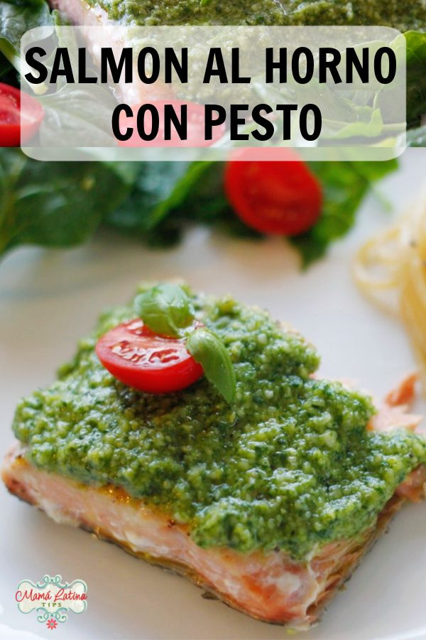 This delicious baked salmon with pesto recipe is a great idea for the lenten season. Learn how to make this quick salmon at home. This meal takes 30 minutes or less to cook. Pesto Salmon, Baked Salmon, Salmon Dishes, Fish Dishes, Pesto Recipe, Cooking Salmon, Salmon Recipes, Lenten Season, Easy Meals