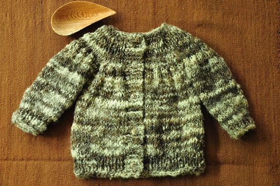 Chaleco lana Chaleco bebé Chaleco tejido a mano Abrigo por Acurruca