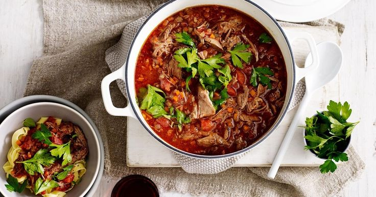 A slow cooker recipe that will transform a shoulder of lamb into an aromatic and tender meat sauce to serve with pasta.
