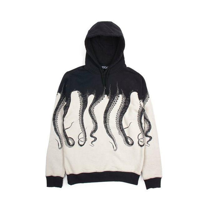 Octopus - Octopus Hoodie, Black € 95,00 - Felpe Cappuccio. ✓Spedizione e reso gratis ✓Pagamenti con carta o contrassegno.