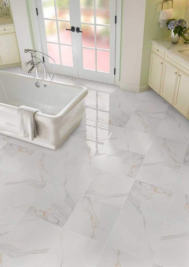 Calacatta Porcelain Atlantic Tile And Stone Ceramic Floor Tile Bathroom Floor Tiles Porcelain Flooring