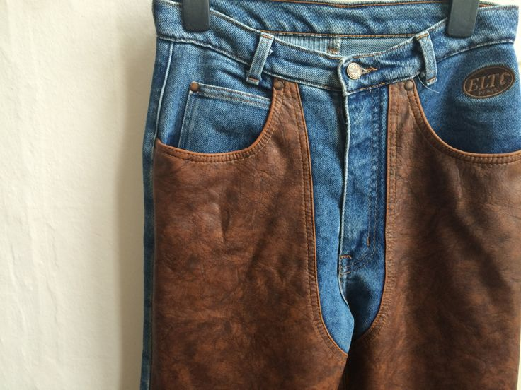 Cowboy pants, leather pants, rodeo pants, western pants, brown leather pants, leather cowboy pants,leather rodeo pants, biker pants, leather door VintageVicenti op Etsy