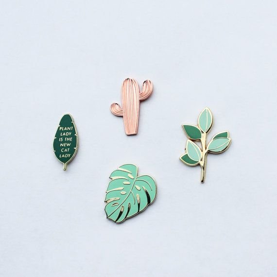The Plant Pin Pack Vol. 1  Lapel Pins by handmadesammade on Etsy