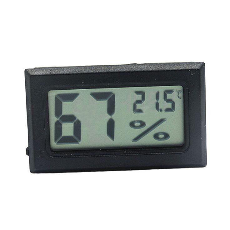 1 PCS Mini Digital LCD Termômetro Higrômetro Temperatura Interior Conveniente Sensor de Temperatura Medidor de Umidade Medidor de Instrumentos