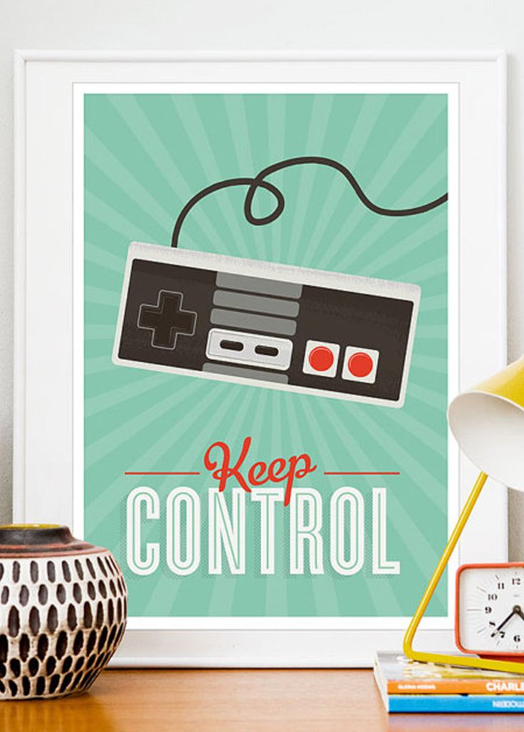 Keep Control – retro plakat