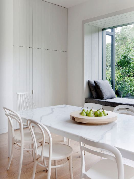 Marble tabletop, bifold window and window seat | Est Magazine