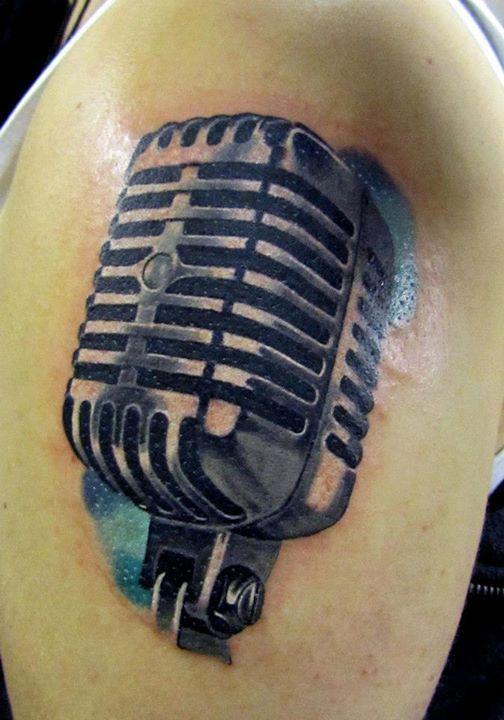 88 best microphone tattoo images on pinterest tattoo for Jordan garnett tattoo
