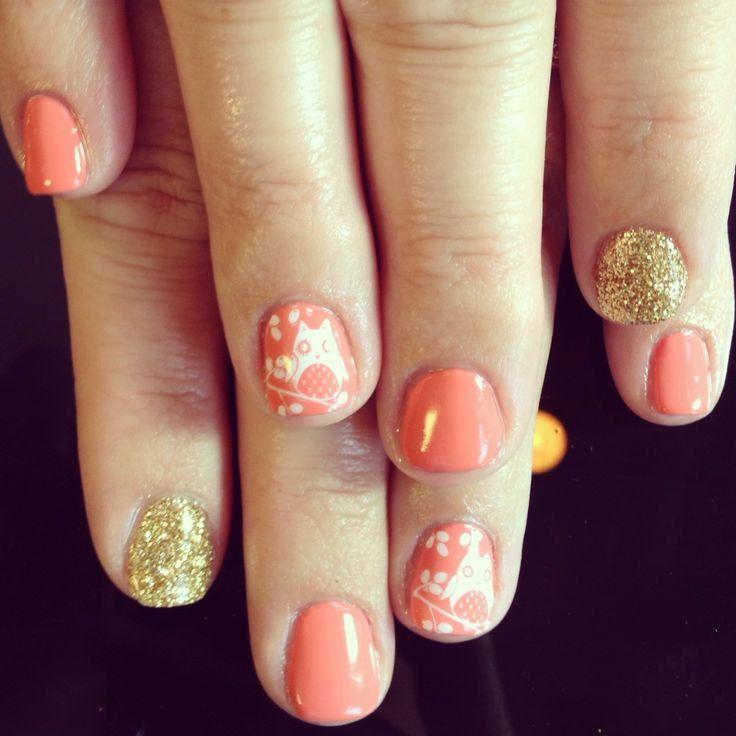 Nails nail art design pretty cute fun summer shellac - Cute nail polish designs to do at home ...