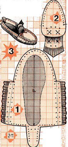 Выкройка мокасин / Простые выкройки / Своими руками - выкройки, переделка одежды, декор интерьера своими руками - от ВТОРАЯ УЛИЦА