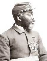 First African American soldier to be awarded Med.al of Honor.  William Harvey Carney (February 29, 1840 – December 8, 1908)  For his actions at the Battle of Fort Wagner. http://ritabay.com/