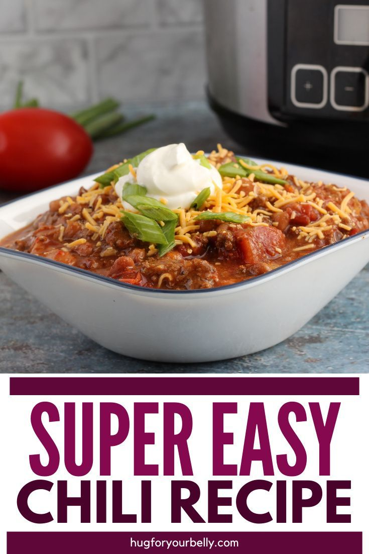 Crockpot Chili With Ground Beef In 2020 Easy Crockpot Crockpot Chili Easy Chili Recipe Easy