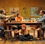Matt Harrington, Joe Paulik, Samantha Richert and Carter Gill in Moonchildren, 2011, directed by Karen Allen at the Unicorn Theatre