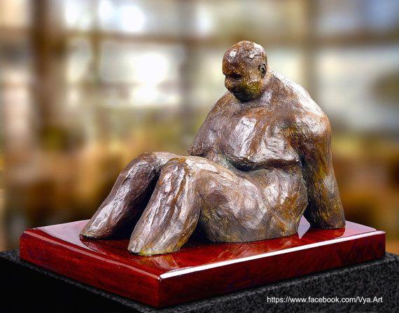 Metal Sculpture figurative sculpture Bronze Man by VyaArt on Etsy