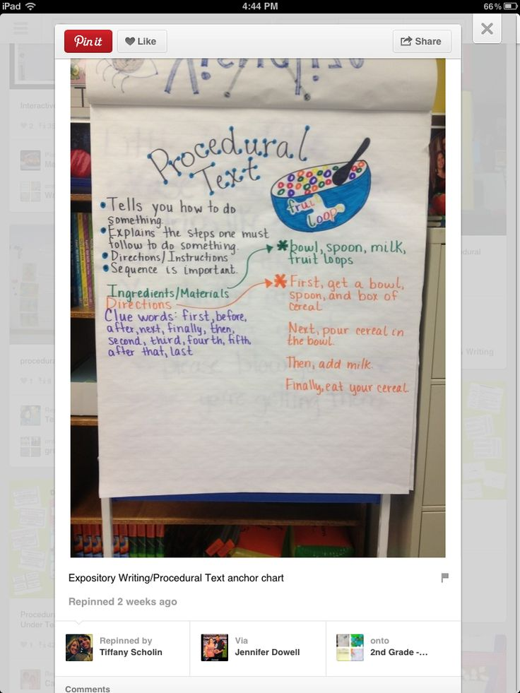 Procedural Text: Procedures Texts 4Th Grade, Procedural Funct Texts, Language Art, Anchors Charts