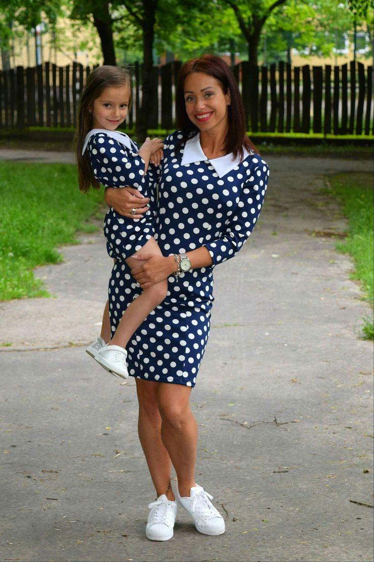 Mother and daughter matching outfit Pöttyös anya-lánya szett www.minniemes.com