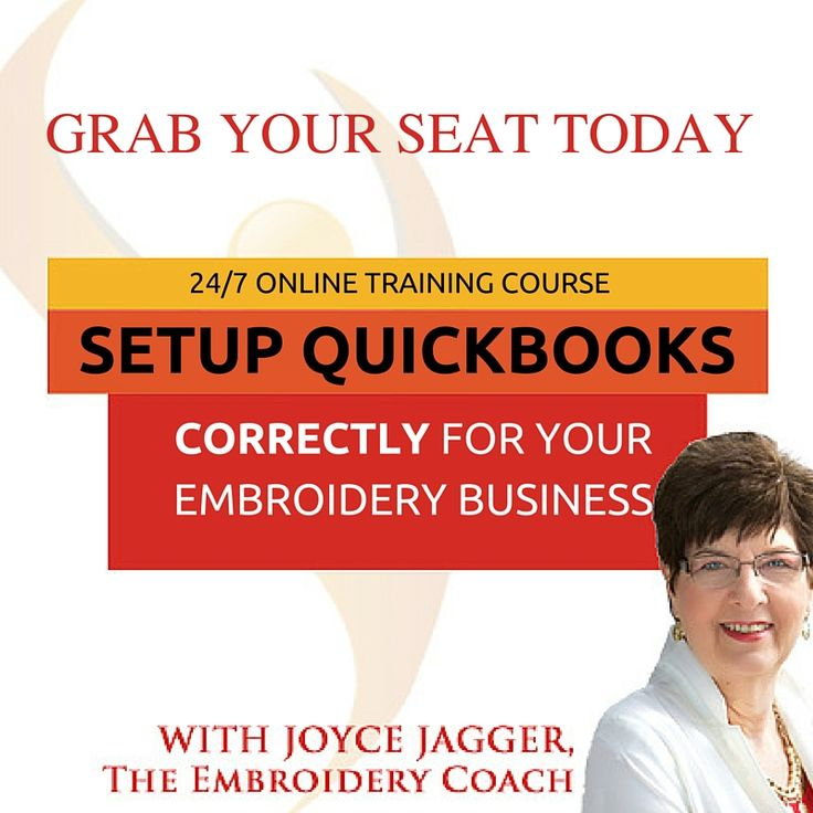 Embroidery Business Bookkeeping System Online training