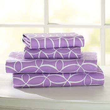Purple bed sheets | Stonehill College Dorm