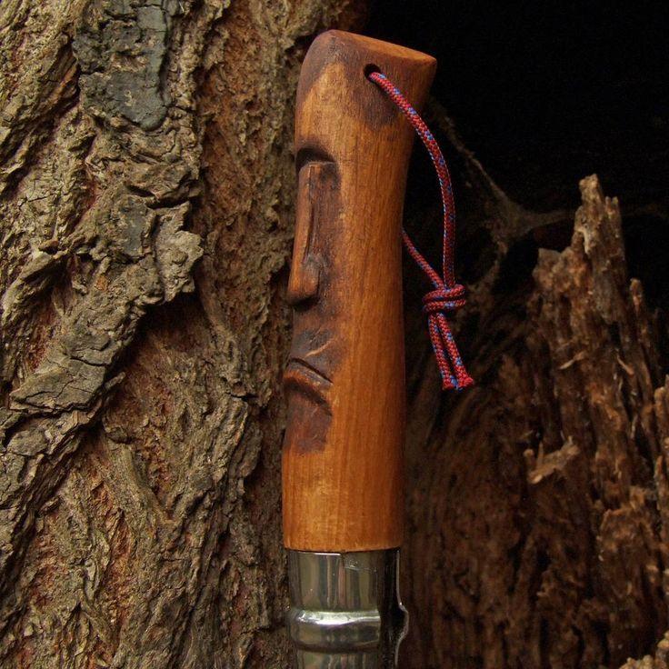 """Polubienia: 38, komentarze: 1 – Fabryka Rzeczy Fajnych (@frf.com.pl) na Instagramie: """"Handcarved Opinel handle by #FRF #fabrykarzeczyfajnych #knifemaking #knife #handle #wood #woodwork…"""""""