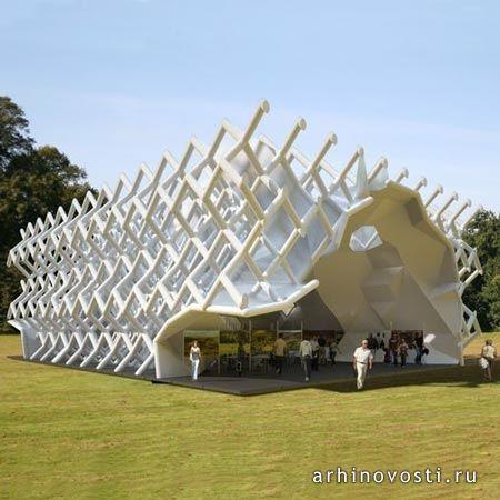 """Норвежская студия, """"Вэриос Аркитектс"""" (Various Architects) предложила построить мобильный павильон на основе структуры бриллианта. Проект стал финалистом в конкурсе, организованном """"Йоркшир Форвард"""" (Yorkshire Forward). Конструкция создана из металлических труб, объединенных модульной сеткой, схожей со структурой атома бриллианта. После сборки,..."""