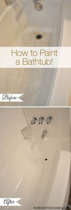 DIY Money Saving Home Repairs • Tutorials, including how to paint a bathtub fr…