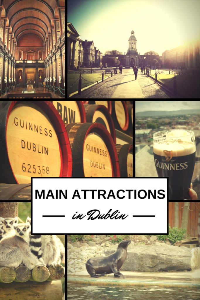 The main attractions in Dublin- visit this page for suggestions of fun things to do in Dublin!