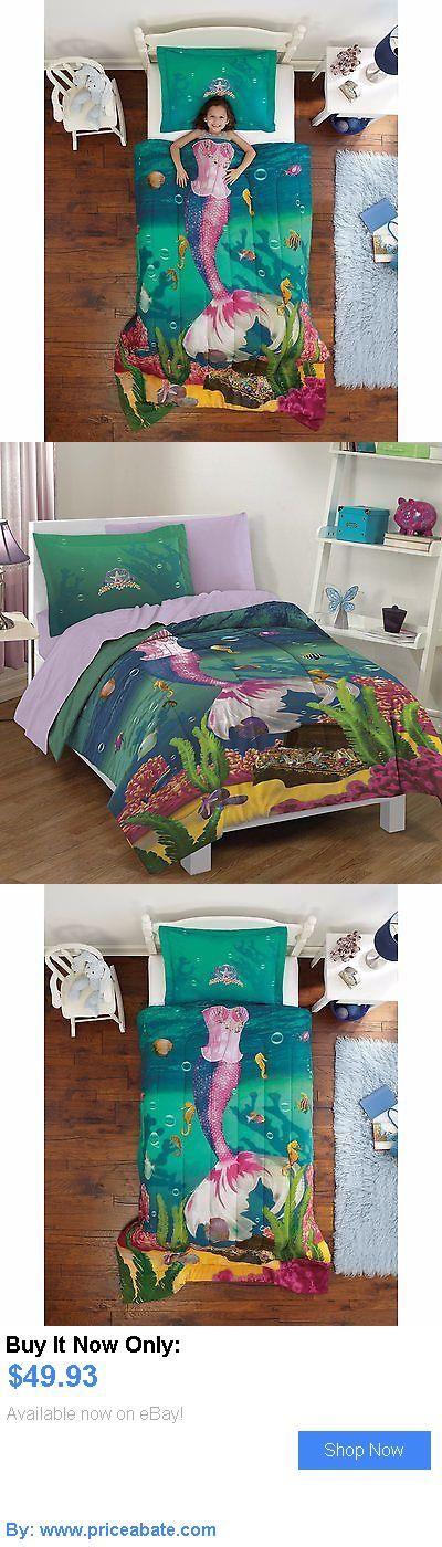Kids Bedding: Kids Comforter Set For Girls Twin Mermaid Sea Princess Ocean Bed Bedding Sham BUY IT NOW ONLY: $49.93 #priceabateKidsBedding OR #priceabate