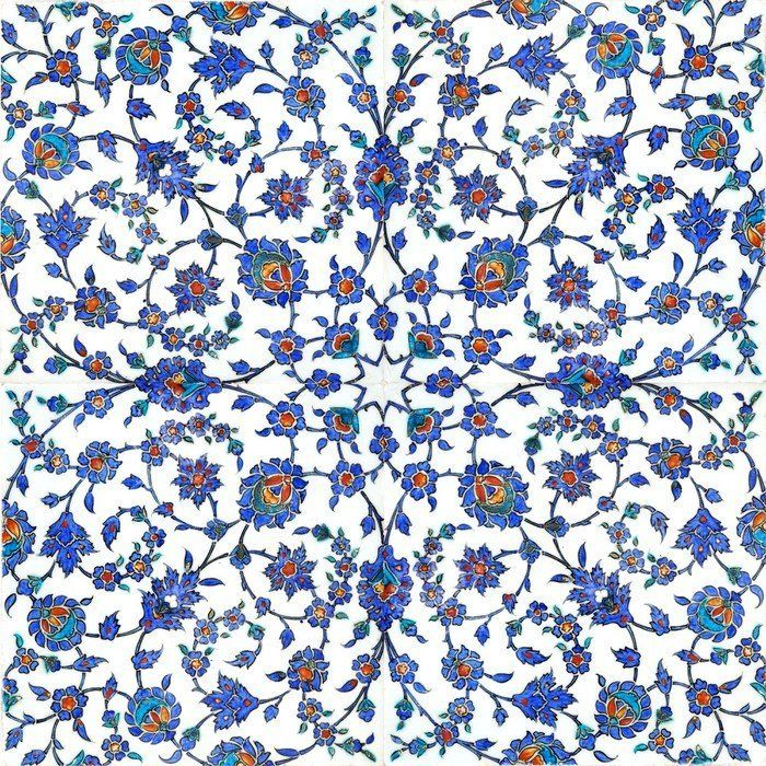 Carta da Parati in Vinile Antiche piastrelle turche ✓ Installazione Semplice ✓ Rimborso Garantito 365 Giorni ✓ Guarda altri modelli da questa collezione!