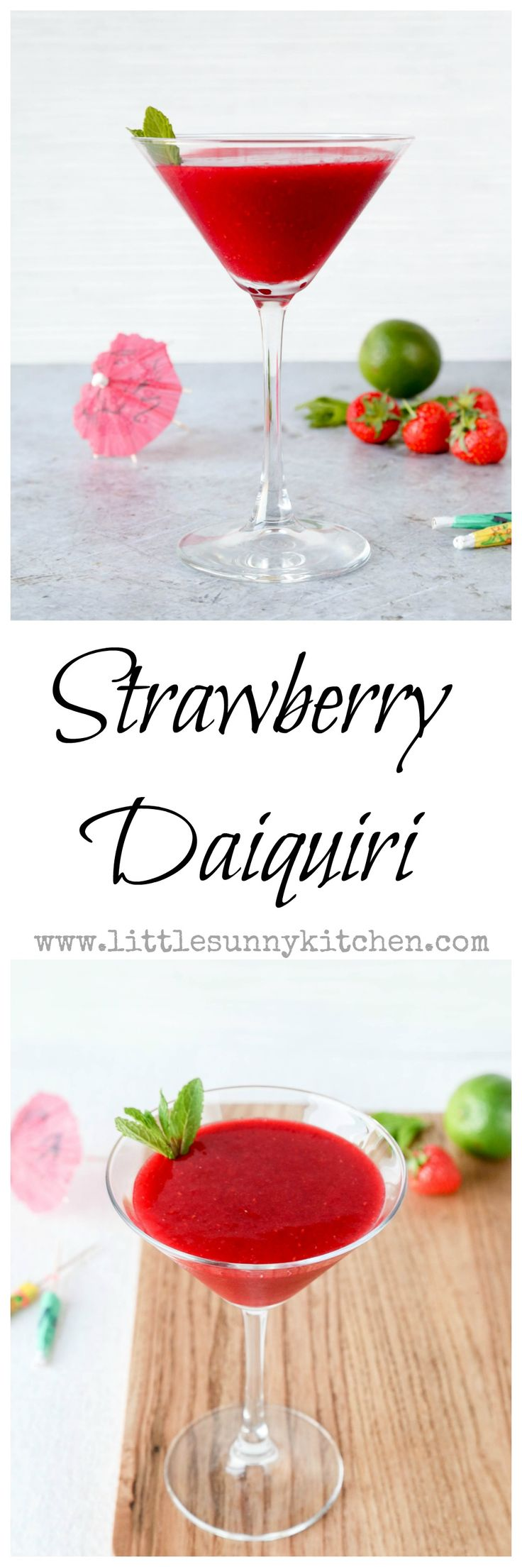 Strawberry daiquiri is a very easy sweet and sour cocktail that is perfect to be enjoyed any time of the year!